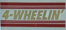 Original Vintage 4 Wheelin' Red and White Strip Iron On Transfer Truck