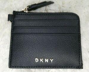 DKNY Women Black Graffiti Print Coin / Card Purse Wallet, new