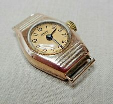 VINTAGE 9ct GOLD LADIES WATCH GOLD FACE RIVANA FOR DUNKLINGS AUSTRALIA    RN590