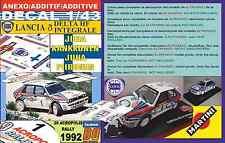 ANEXO DECAL 1/43 LANCIA DELTA HF I J.KANKKUNEN ACROPOLIS R. 1992 2nd (01)
