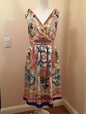 Anthropologie TIED ACIONNA 100% SILK DRESS by COLLETTE DINNIGAN Roman Greece 6