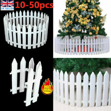 More details for 10-50pcs christmas tree picket fence fencing lawn edging garden xmas tree decor
