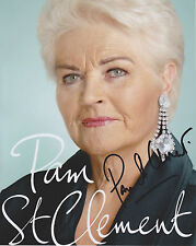 Pam St Clement Hand Signed 8x10 Photo, Autograph, Eastenders, Pat Butcher (B)