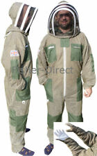 Three layer ultra ventilated green beekeeping suit bee suit and gloves