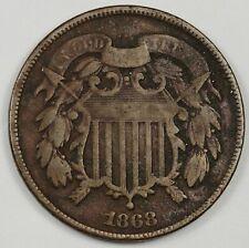 1868 2 Cent Piece.  Fine.  167203