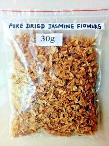 Pure Dried Organic JASMINE FLOWERS (Jasminum grandiflorum) Natural Fragrance 30G