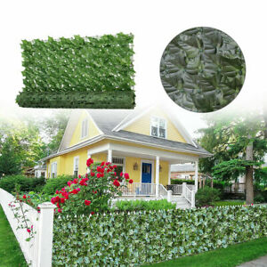 1X3M Artificial Faux Ivy Leaf Hedge Panels Privacy Screening Garden Fence Decor
