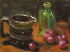 Fine Art Original Oil Painting Framed REDUCED 6x8 Still Life Sallows