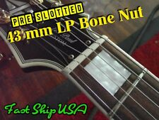 Pre Cut Right Slotted Bone Nut 43mm  Fits Les Paul, Firebird, Epiphone, SG.