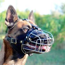 Belgian Malinois Shepherd Dog Muzzle Wire Cage Soft Padded Basket Medium Large