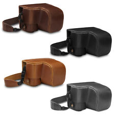 MegaGear Ever Ready Leather Camera Case for Sony Alpha A6100, A6400(16-50mm)