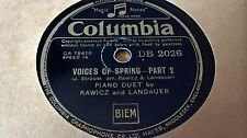 RAWICZ AND LANDAUER VOICES OF SPRING PART 1 & 2 COLUMBIA DB2026