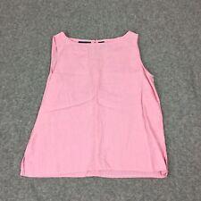 Liz Clairborne Lizsport Women Medium Linen Pink Tank Sleeveless Top Career Basic