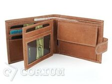MENS HUNTER HIGH QUALITY REAL LEATHER BIFOLD WALLETS BROWN MAN WALLET