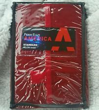 Perry Ellis America Red Pillow Sham Cotton Red Sail Chino Classic Replacement
