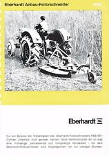 Eberhardt Anbau- Rotorschneider RSB, orig. Prospekt 1969