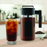 US 900ML Cold Brew Iced Coffee Maker Airtight Seal Silicone Handle Coffee Kettle
