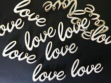 LOVE Schritzug aus Holz 50 Streudeko Holz Tischdeko Deko Hochzeit Liebe love