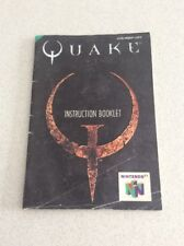 Quake Nintendo 64 Game Manual Only Instruction Booklet N64