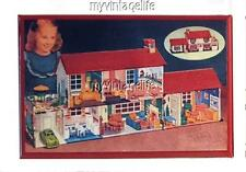 "Tin Litho DOLL HOUSE  Fridge MAGNET  2"" x 3"" art NOSTALGIC VINTAGE"