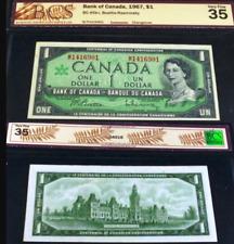 1967 M/P PREFIX GRADED BANKNOTE. BANK OF CANADA $1