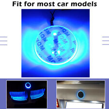 Blue 82mm For BMW 3 5 7 X Series Badge Background LED Light Emblem Logo sticker