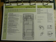 VOLSWAGEN VW POLO DERBY 1975-81 INFO TECHNICAL INFORMATION CAR AUTO OLY122