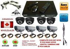 1000TVL  SONY CCTV CAMERA REALTIME 8CH H264 240FPS STANDALONE DVR Security  usa