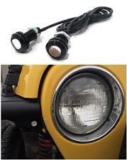 Off Road 4x4 AMBER LED Turn Signal Indicators fits FLAT FENDERS - Rock Crawler