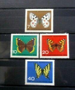 Germany - BRD Sc. B380-B383 Butterflies 1962 - MNH