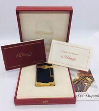 St. DuPont Paris French Gold Plated Black Laque De Chine Lighter & Box