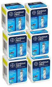 300 Contour Next Test Strips 6 Boxes of 50ct Long EXP!!! into
