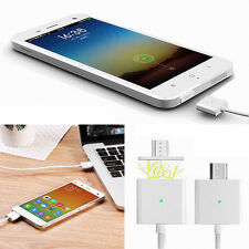 1M Android Micro USB Magnetic Charging Adapter Charger Cable LED Indicator Light
