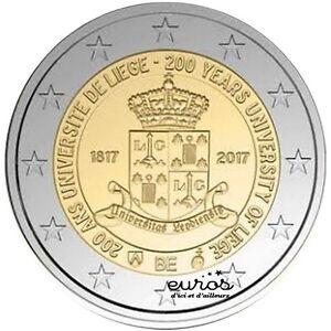 Pièce 2 euros commemorative BELGIQUE 2017 - 200 ans de l'Université de Liège UNC