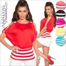 Regular Size Viscose Striped Blouses for Women