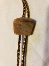 Vintage Unisex Western Style Bolo Tie with  Agate Slide