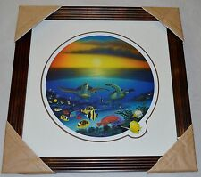 WYLAND SEA TURTLE REEF LITHOGRAPH MATTED/FRAMED/SIGNED #874/950 W/COA STUNNING