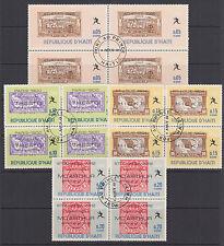 Haiti Sc 616-616O used 1969 Mexico City Olympics complete, Blocks of 4, VF