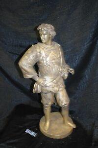 Edelmann, Bronze, schöne silberne Antikpatina, 60cm