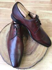 Magnanni 'Reko' Tobacco Brown Medallion Toe Leather Oxfords Size US 11 M *