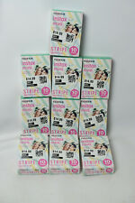 Fujifilm Instax Mini Instant Stripe Film LOT 100 Sheets Fuji 7s 8 9 10 70 Camera