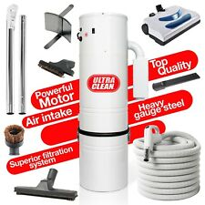 7,500 sq ft Home Central Vacuum System 35 Foot Electric Hose Powerhead Kit