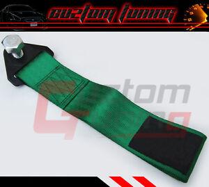 FOR SUBARU IMPREZA WRX GC 8 GD 8 GF8 GM GE GH GR GV GREEN BUMPER TOW STRAP RALLY