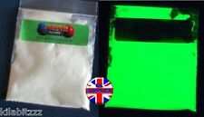 BRIGHT ZZ3 pigment powder Glow in the dark GREEN luminescent luminous 20g