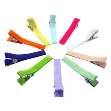 """50PCS 1 3/4"""" Ribbon Covered Lined Alligator Clips NO Teeth Girl Baby Hair Clips"""