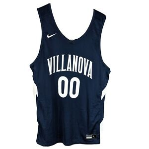 Villanova Wildcats Nike Basketball Jersey Mens Size Large Navy Blue White # 00
