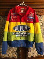 NASCAR Jeff Gordon Dupont Racing Chase Authentics Rainbow Jacket Mens Large