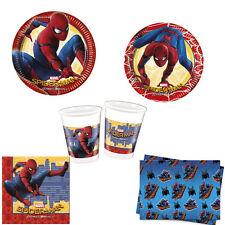 Kit Party Spiderman Uomo Ragno Compleanno Festa Tavola Piatti Bicchieri Eroi