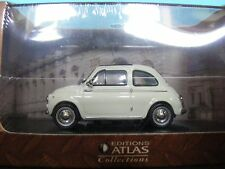 Fiat 500 in White Suicide Door model Sunroof  Editions Atlas in 1:43rd. Scale