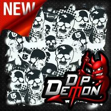 WHITE & TRANSPARENT G SKULLS FILM HYDROGRAPHIC WATER TRANSFER HYDRO DIPPING DIP